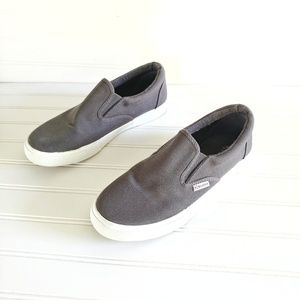 Superga Slip-On Sneakers Gray Canvas